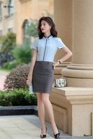 办公室衬衫订做一步裙套装(1)