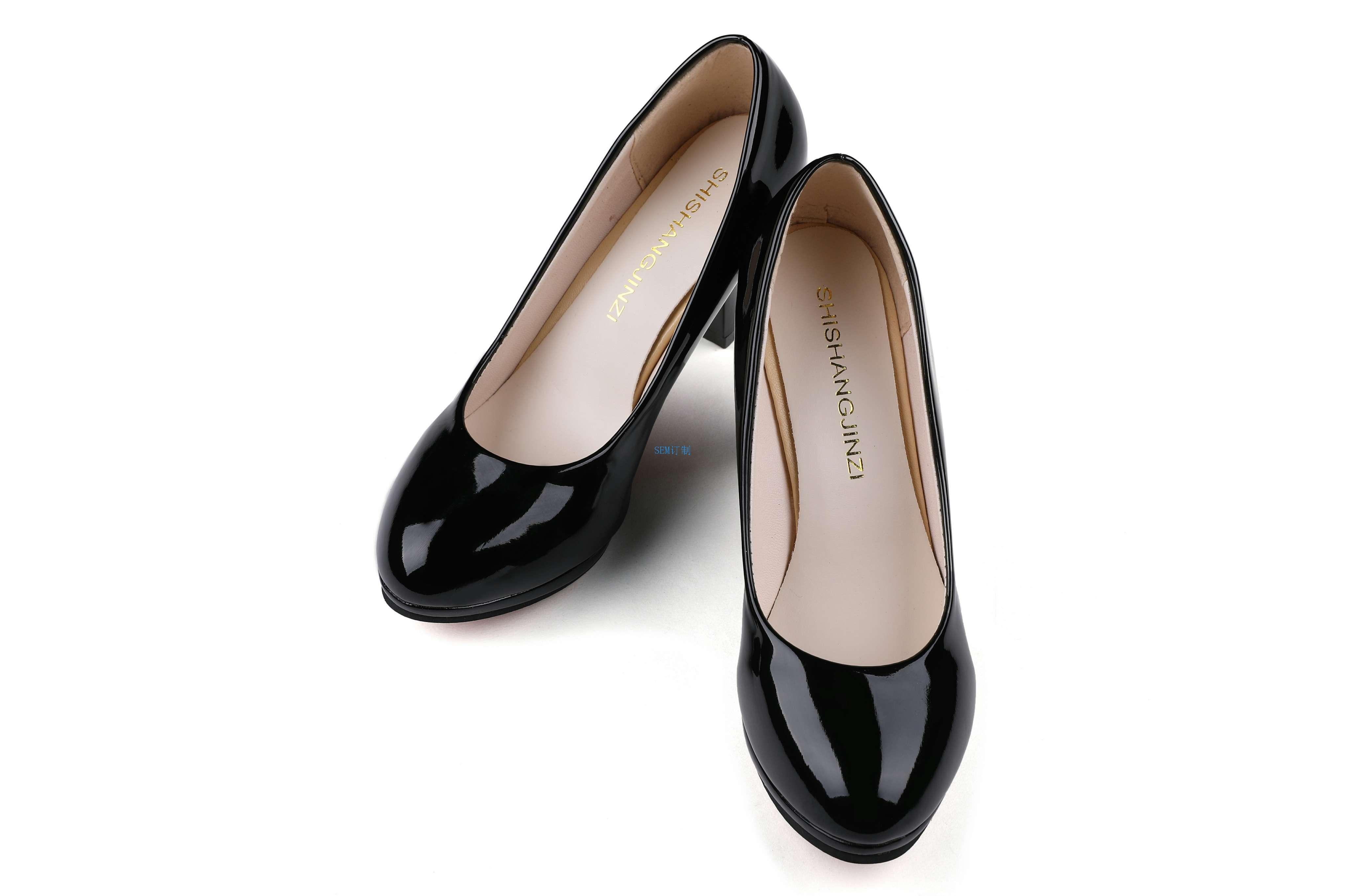 女士正装鞋品牌_PU 工装皮鞋女款正装皮鞋